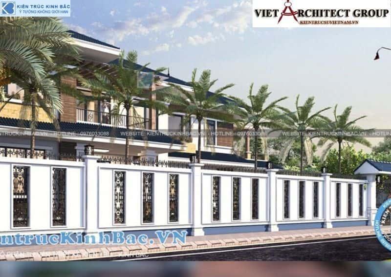 9 - Công trình thiết kế biệt thự 2 tầng mái thái anh Cảnh - Hoà Bình