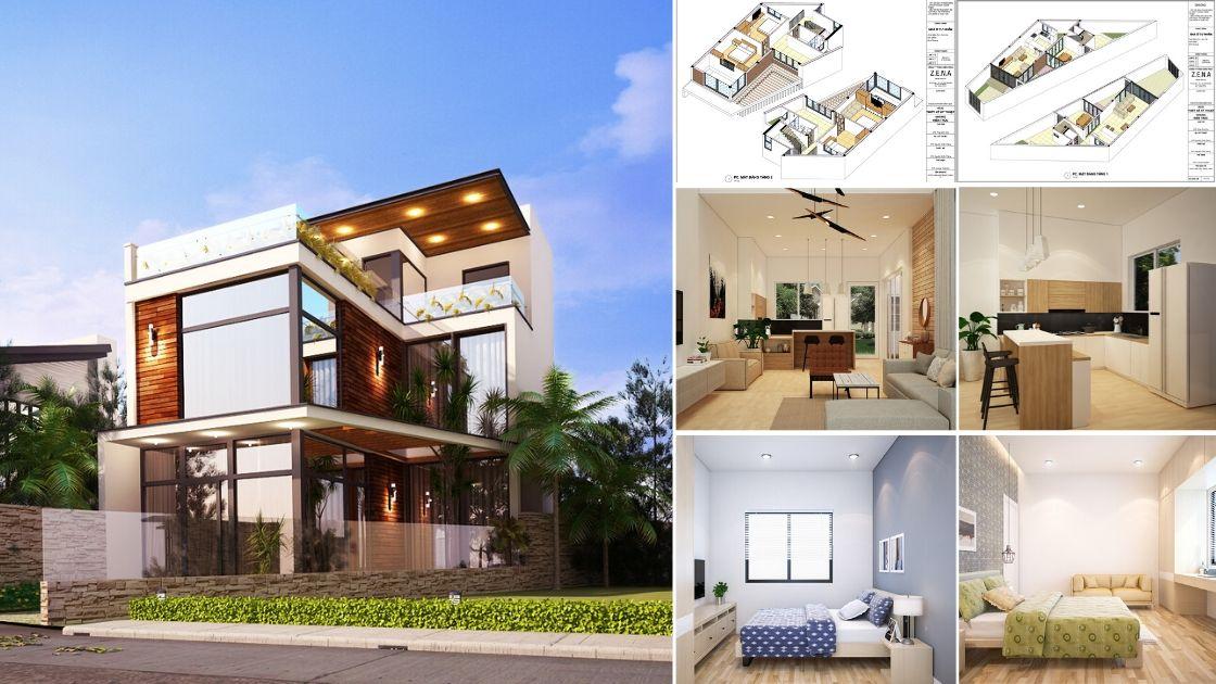 Biệt thự Tân cổ điển 2 tầng 2.3 tỷ 1 - Nhà ở hiện đại 150m2 anh Lộc, Bình Dương