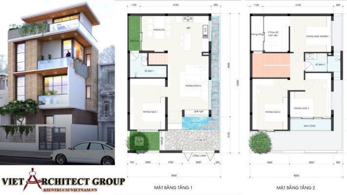 Biệt thự Tân cổ điển 2 tầng 2.3 tỷ 2 1 711x400 - Công trình thiết kế thi công nhà phố 3.5 tầng 65m2 Ms Lan Quận 9