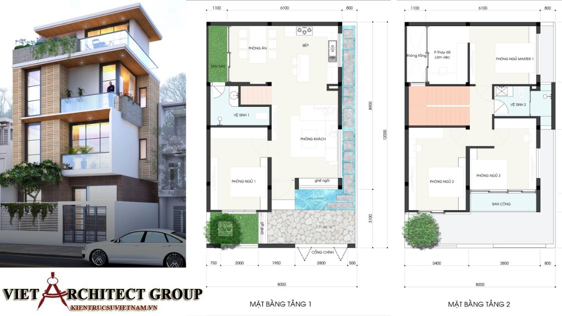 Biệt thự Tân cổ điển 2 tầng 2.3 tỷ 2 1 - Thiết kế nhà phố đẹp