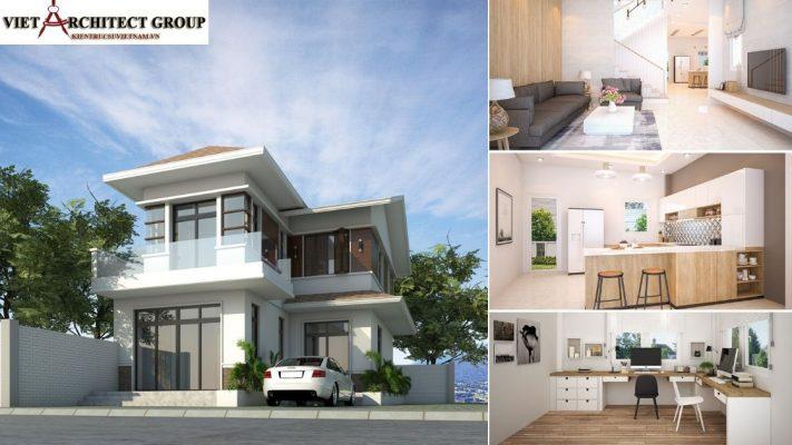 Biệt thự Tân cổ điển 2 tầng 2.3 tỷ 2 711x400 - Báo giá thiết kế: Nhà, biệt thự, nội thất