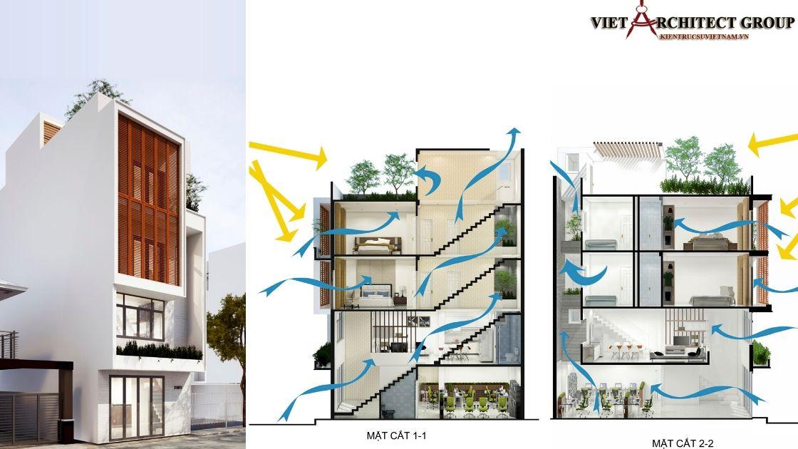 Biệt thự Tân cổ điển 2 tầng 2.3 tỷ - Thiết kế nhà phố đẹp