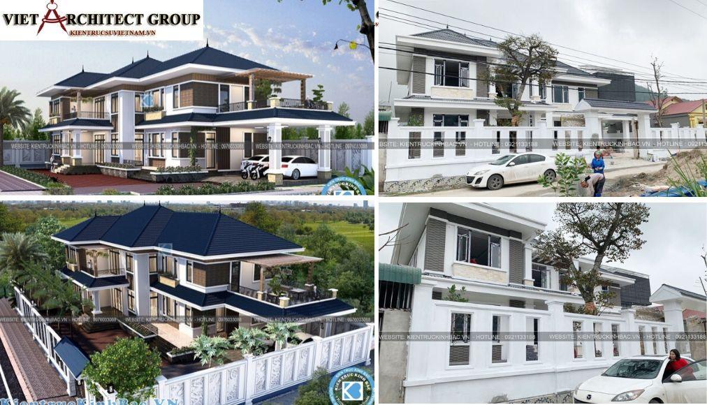 Thiết kế không tên 12 - Công trình thiết kế biệt thự 2 tầng mái thái anh Cảnh - Hoà Bình