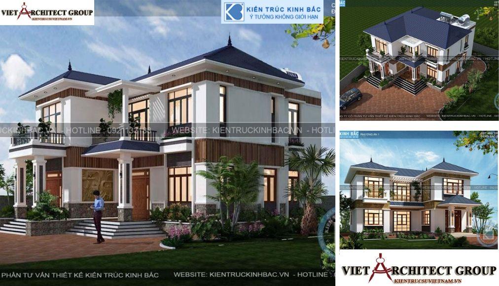 Thiết kế không tên 13 - Thiết kế biệt thự 2 tầng mái thái đẹp và chuyên nghiệp