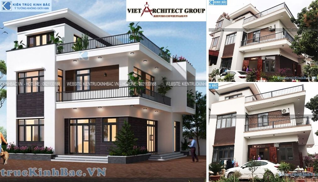 Thiết kế không tên 14 - Công trình Thiết kế biệt thự 3 tầng hiện đại anh Sơn - Bắc Giang