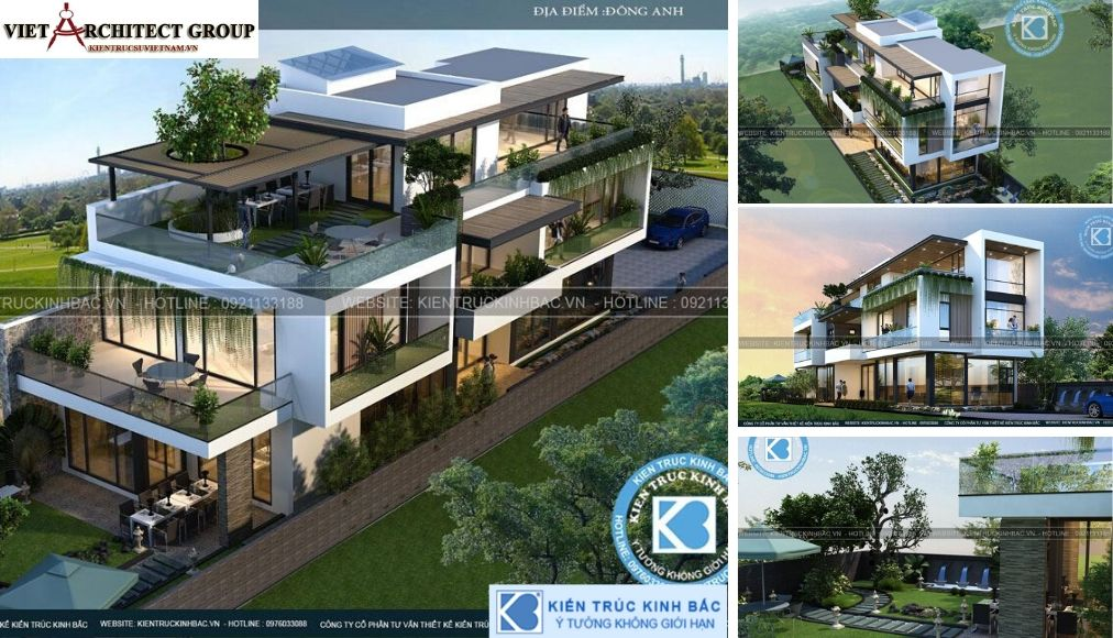 Thiết kế không tên 15 - Công trình thiết kế biệt thự 3 tầng hiện đại anh Đức - Hà Nội