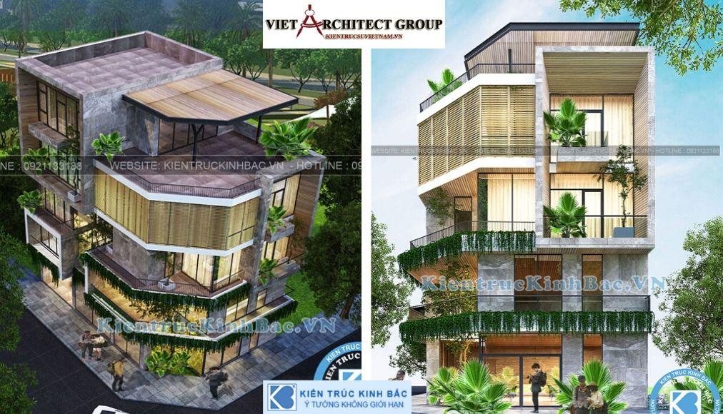Thiết kế không tên 17 - Công trình Thiết kế biệt thự lô góc 5 tầng chị Yên tại Hưng Yên
