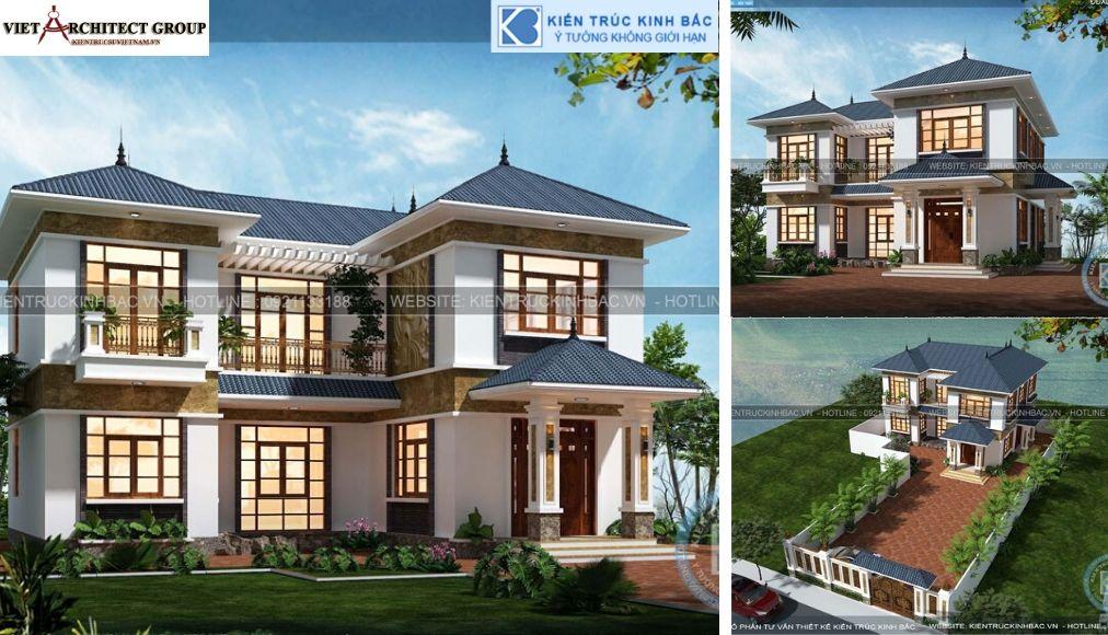 Thiết kế không tên 19 - Thiết kế biệt thự 2 tầng mái thái đẹp và chuyên nghiệp