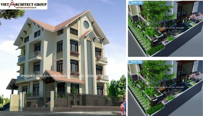 Thiết kế không tên 2 2 698x400 - Công trình thiết kế biệt thự 4 tầng mái thái hiện đại anh Thanh ở Trung Văn