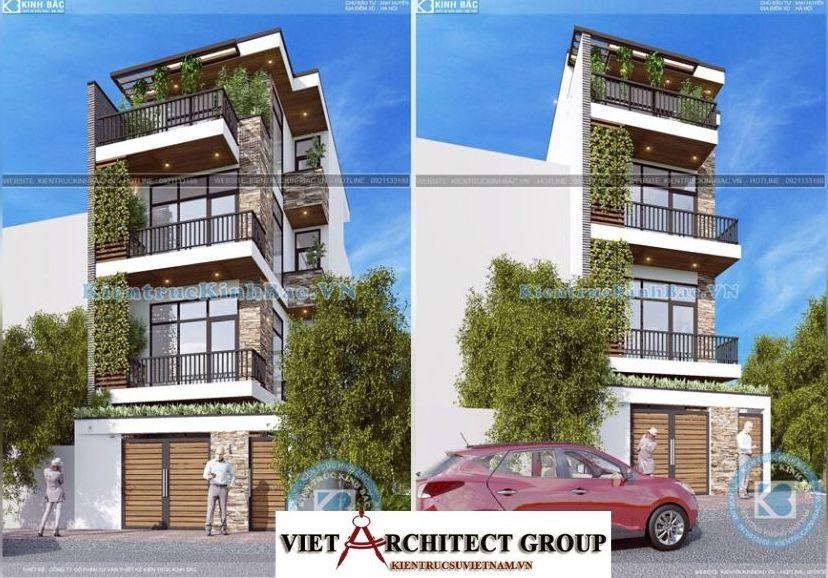 Thiết kế không tên 2 3 - Công trình nhà phố hiện đại 4 tầng mặt tiền 5m a Huyên - Hà Nội