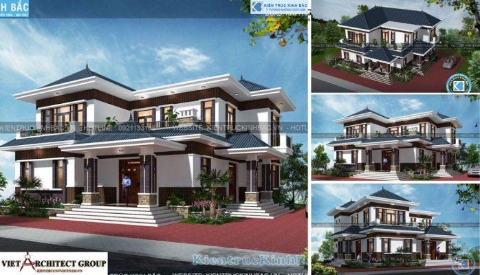 Thiết kế không tên 21 698x400 - Công trình thiết kế biệt thự 2 tầng hiện đại anh Chinh - Bắc Giang