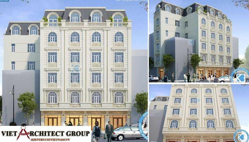 Thiết kế không tên 24 - Công trình thiết kế khách sạn tân cổ điển chị Nguyệt - Bắc Ninh