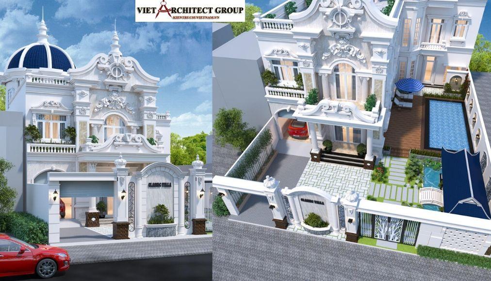 Thiết kế không tên 26 - Công trình biệt thự tân cổ điển 16m x 25m anh Khoa ở Cần Thơ