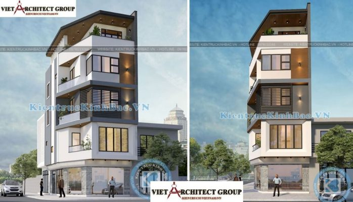 Thiết kế không tên 28 698x400 - Công trình Thiết kế nhà lô góc phố 5 tầng hiện đại tại chú Thọ - Hà Nội