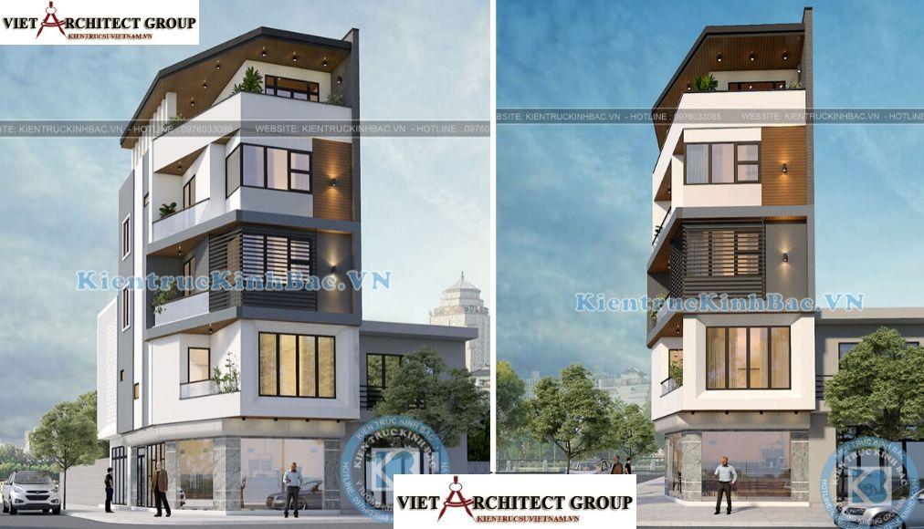 Thiết kế không tên 28 - Công trình Thiết kế nhà lô góc phố 5 tầng hiện đại tại chú Thọ - Hà Nội