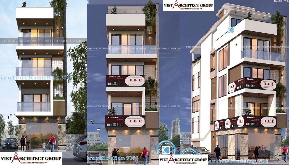 Thiết kế không tên 3 2 - Công trình nhà phố 5 tầng 2 mặt tiền anh Thành - Bắc Giang