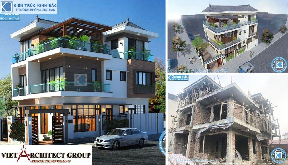 Thiết kế không tên 4 - Công trình biệt thự 3 tầng 2 mặt tiền hiện đại 300m2 ở Hoài Đức, Hà Nội