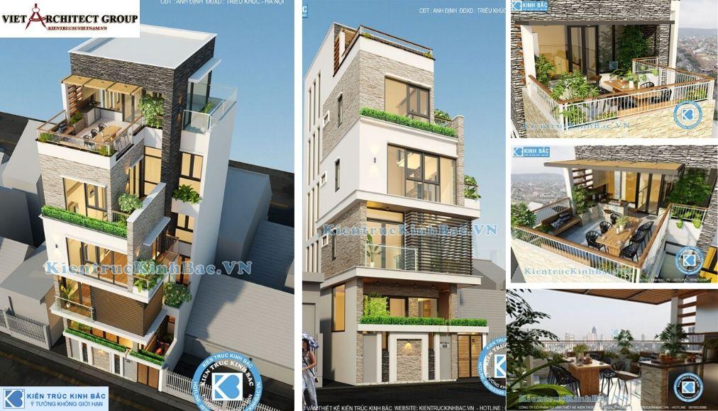 Thiết kế không tên 9 1 - Công trình nhà phố 4 tầng mặt tiền 9m anh Định - Hà Nội