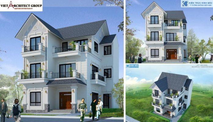 Thiết kế không tên 9 4 698x400 - Công trình thiết kế biệt thự 3 tầng tân cổ điển anh Hùng - Hà Nội