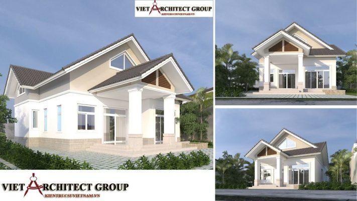 nhà 1 tầng 3 phòng ngủ 711x400 - Công trình nhà ở 1 tầng mái thái 3 phòng ngủ chị Dung - Nhơn Trạch, Đồng Nai