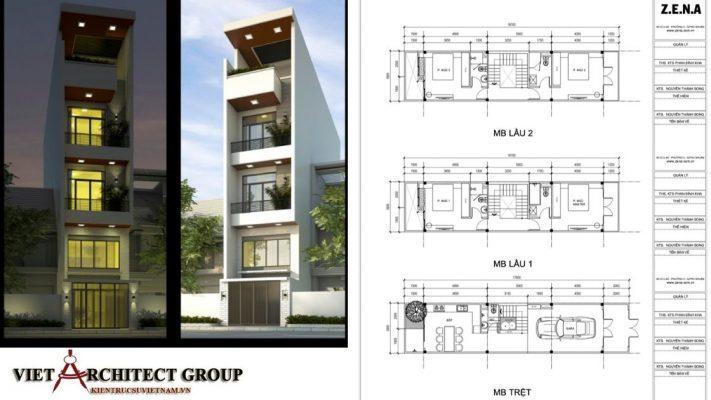 nhà phố 5 tầng đẹp 711x400 - Công trình nhà ở 5 tầng mặt tiền 4m chị Trâm - TPHCM