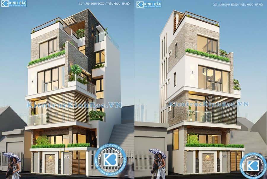 thiet ke  636692541840957238 HasThumb - Công trình nhà phố 4 tầng mặt tiền 9m anh Định - Hà Nội