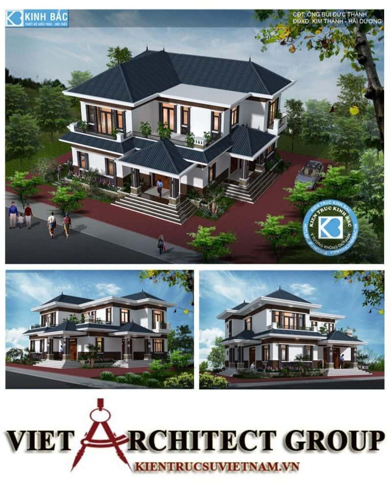 thiet ke biet thu 15 e1578408160574 - Thiết kế biệt thự 2 tầng mái thái đẹp và chuyên nghiệp