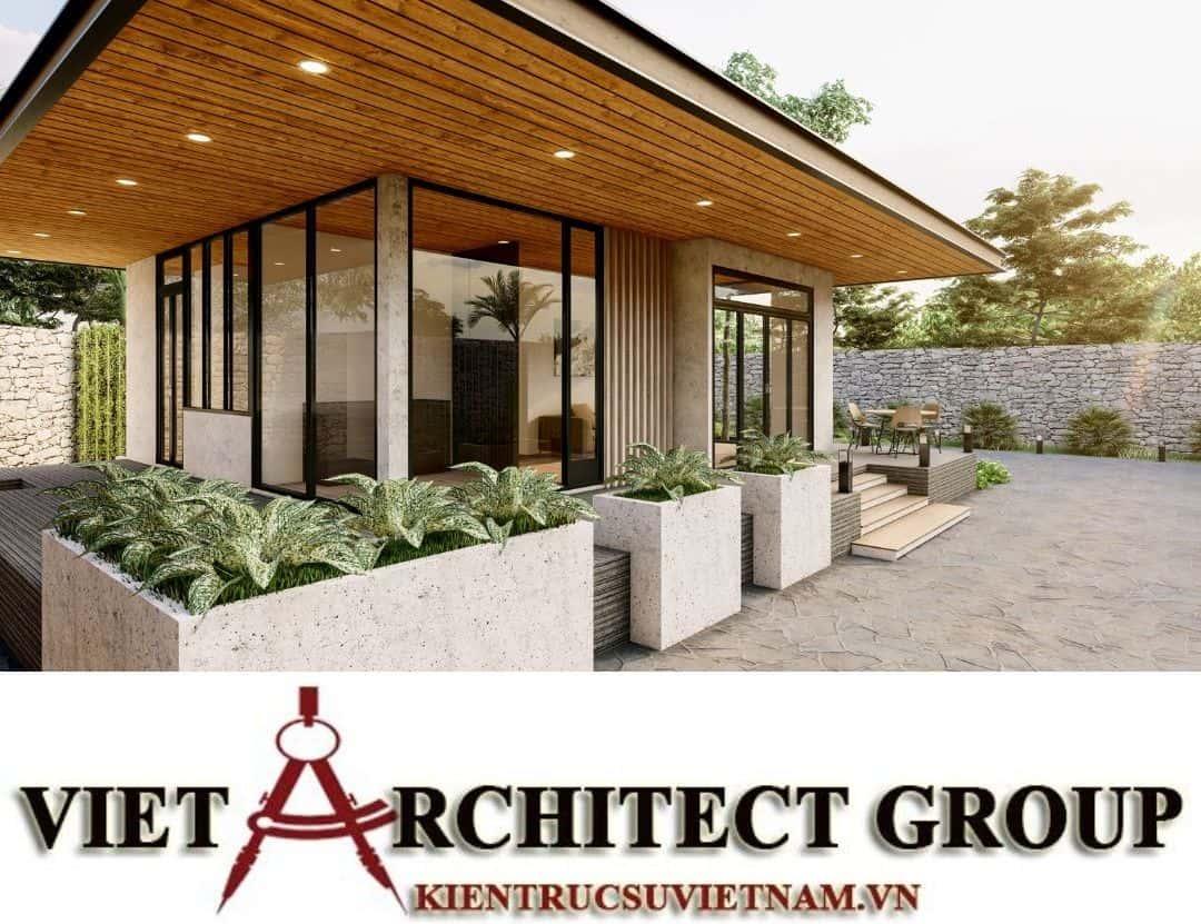 1 2 - Công trình thiết kế thi công biệt thự 1 tầng mr Tân kiến trúc hiện đại đẹp