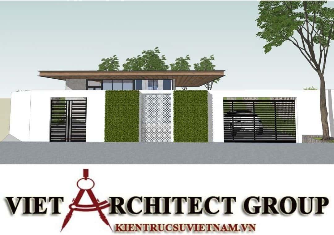 2 2 - Công trình thiết kế thi công biệt thự 1 tầng mr Tân kiến trúc hiện đại đẹp