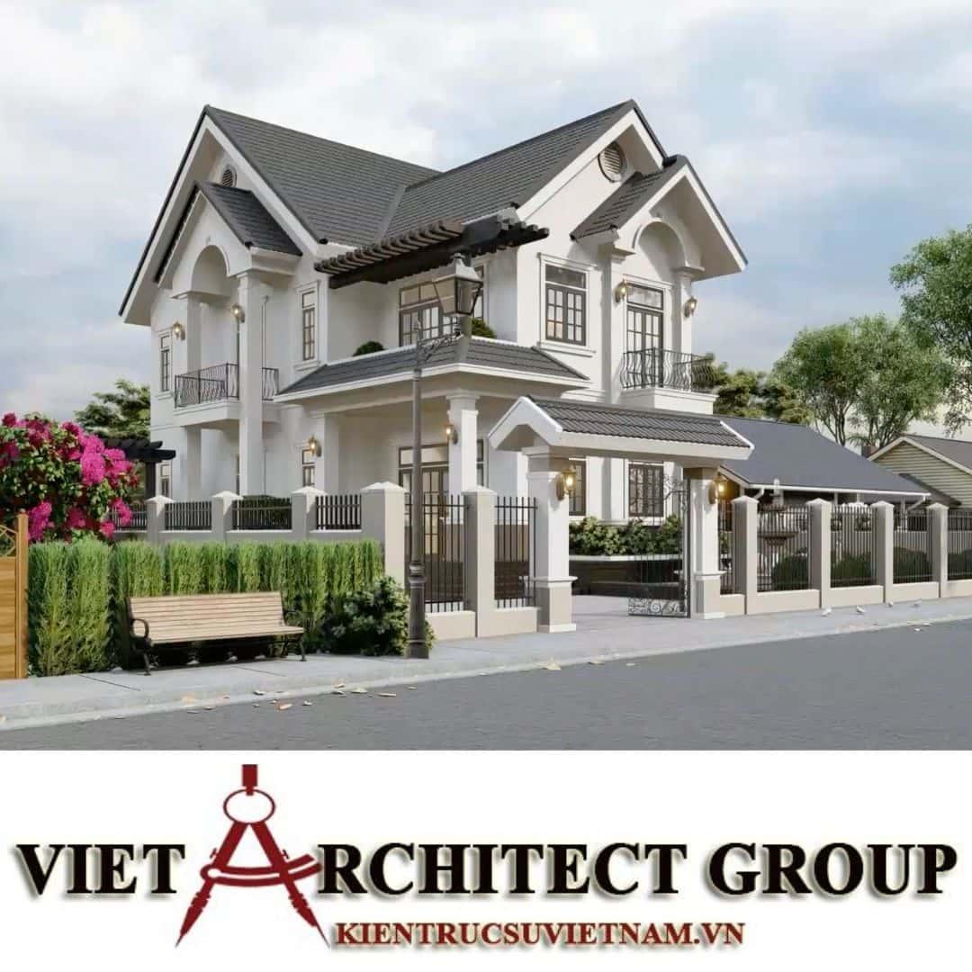 2 3 - Công trình thiết kế biệt thự 2 tầng kiến trúc tân cổ điển mái thái đẹp Nhơn Trạch - Đồng Nai