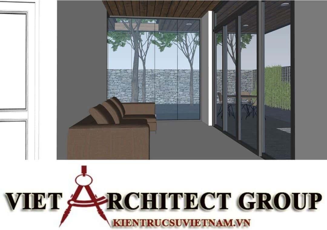 3 2 - Công trình thiết kế thi công biệt thự 1 tầng mr Tân kiến trúc hiện đại đẹp