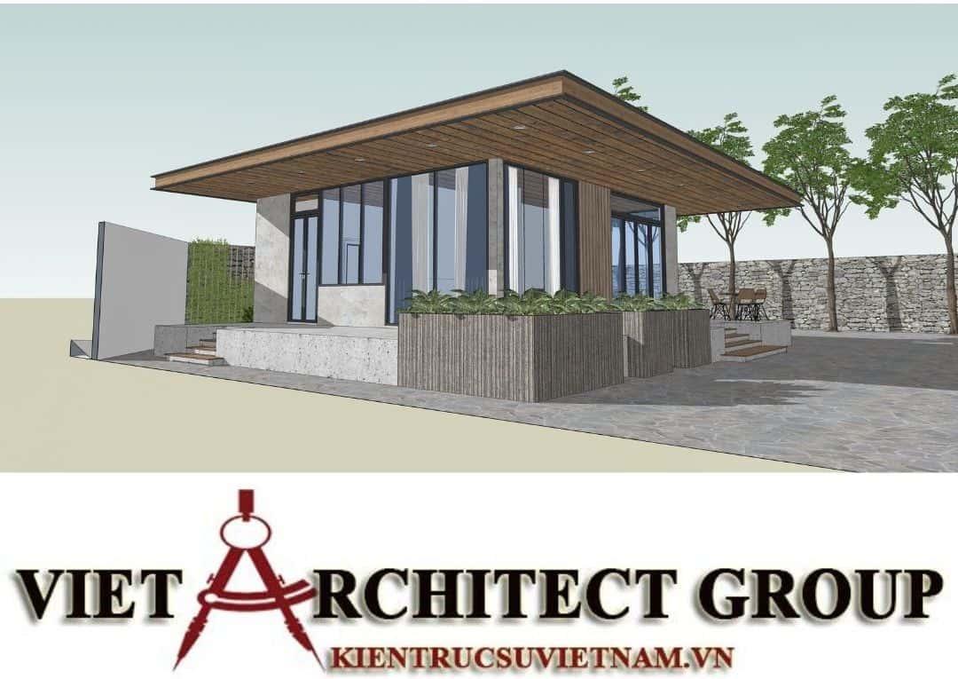 4 2 - Công trình thiết kế thi công biệt thự 1 tầng mr Tân kiến trúc hiện đại đẹp