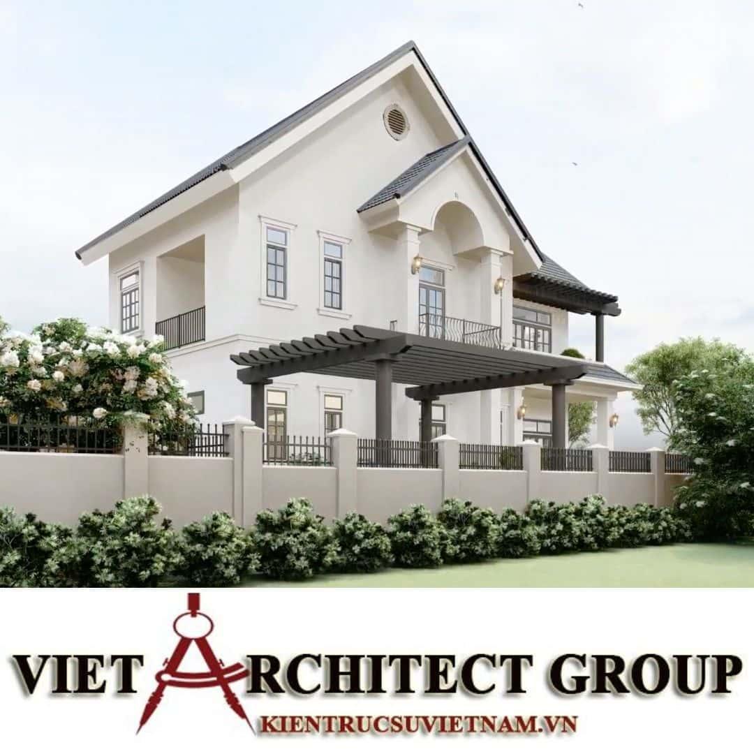4 3 - Công trình thiết kế biệt thự 2 tầng kiến trúc tân cổ điển mái thái đẹp Nhơn Trạch - Đồng Nai