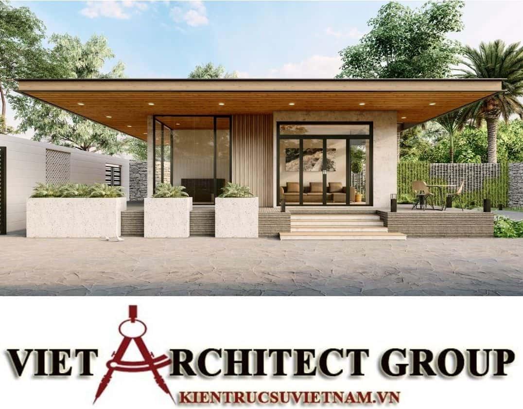 6 1 - Công trình thiết kế thi công biệt thự 1 tầng mr Tân kiến trúc hiện đại đẹp