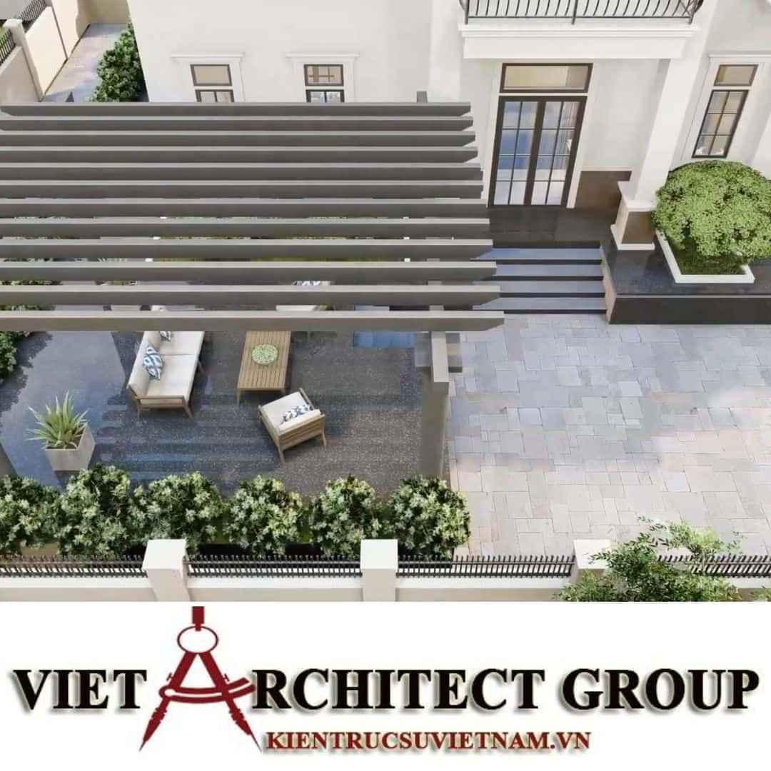 6 2 - Công trình thiết kế biệt thự 2 tầng kiến trúc tân cổ điển mái thái đẹp Nhơn Trạch - Đồng Nai