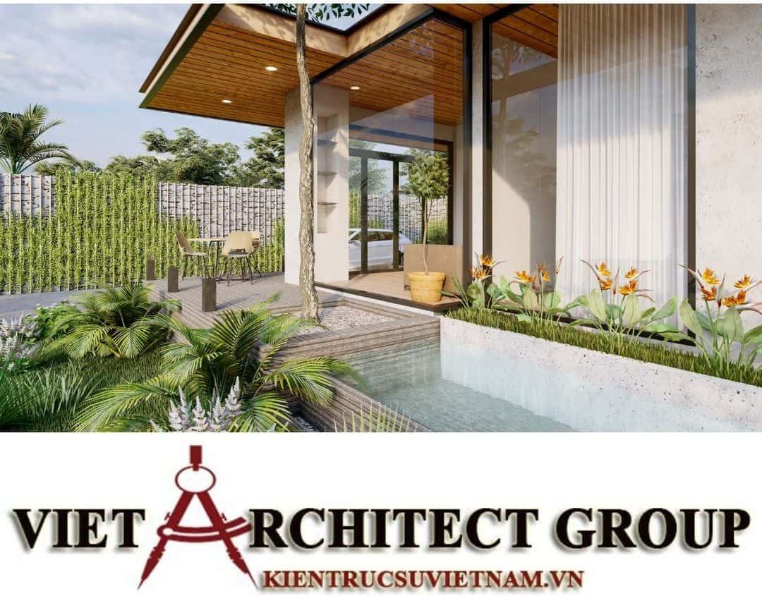 7 1 - Công trình thiết kế thi công biệt thự 1 tầng mr Tân kiến trúc hiện đại đẹp