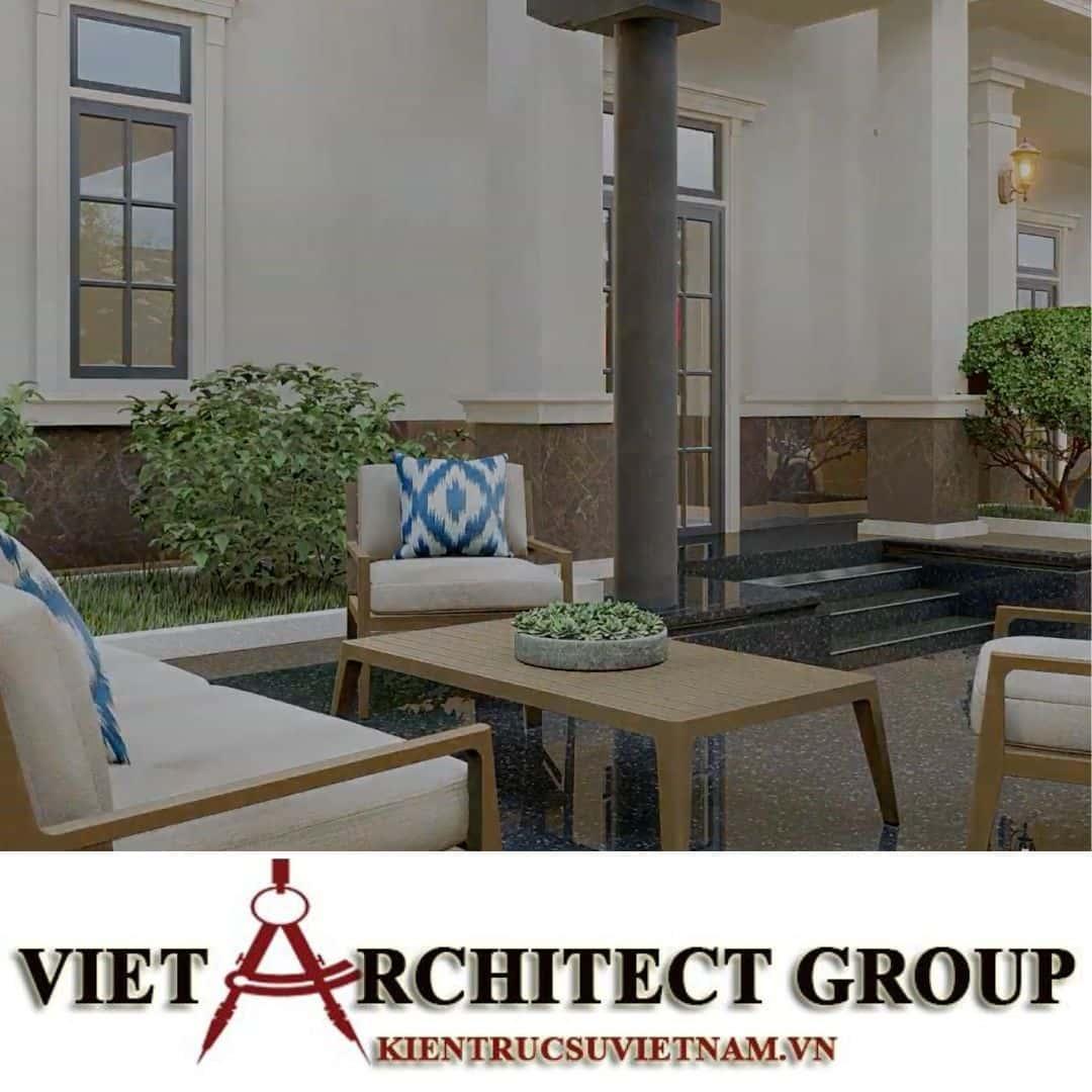 7 2 - Công trình thiết kế biệt thự 2 tầng kiến trúc tân cổ điển mái thái đẹp Nhơn Trạch - Đồng Nai