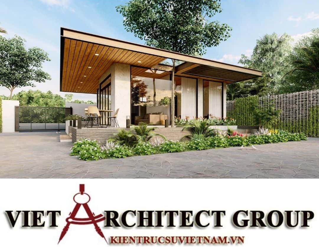 8 1 - Công trình thiết kế thi công biệt thự 1 tầng mr Tân kiến trúc hiện đại đẹp