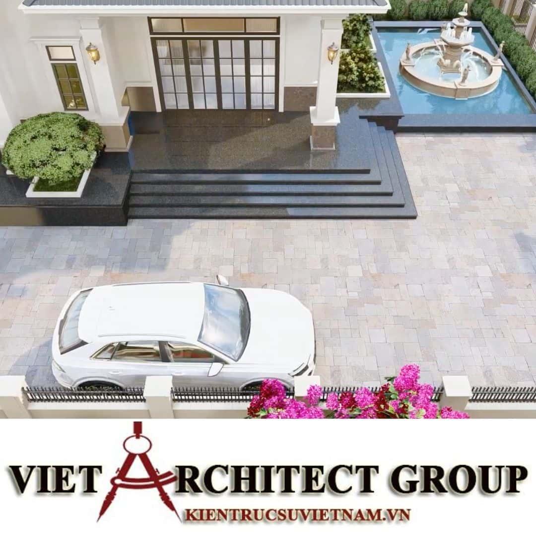 8 2 - Công trình thiết kế biệt thự 2 tầng kiến trúc tân cổ điển mái thái đẹp Nhơn Trạch - Đồng Nai