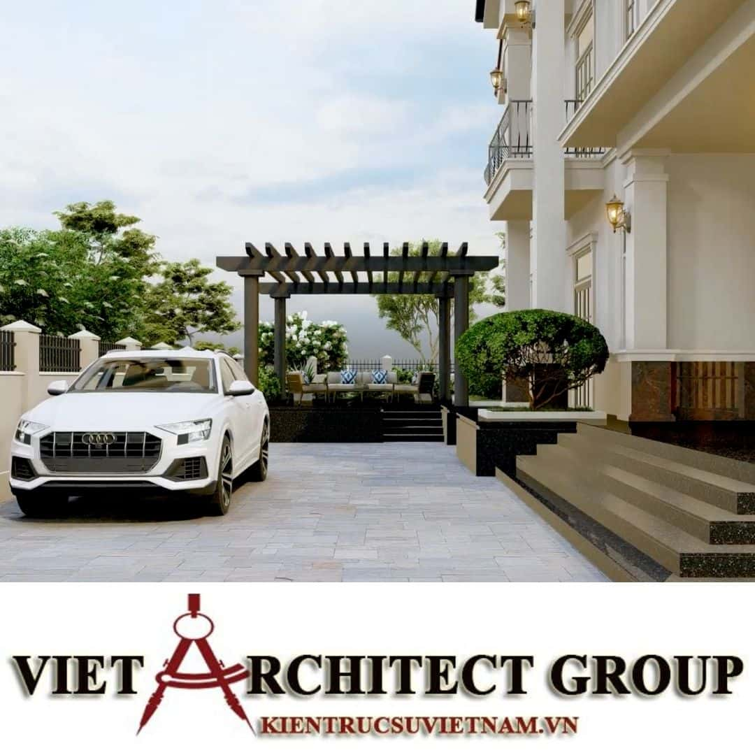 9 1 - Công trình thiết kế biệt thự 2 tầng kiến trúc tân cổ điển mái thái đẹp Nhơn Trạch - Đồng Nai