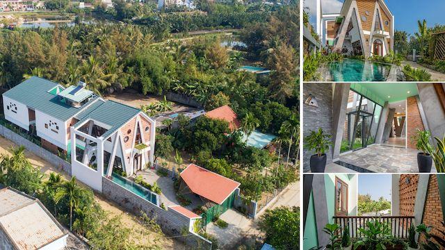 kien truc nha dep - Ngôi nhà có kiến trúc độ đáo tọa lạc tại Cẩm Thành - Hội An