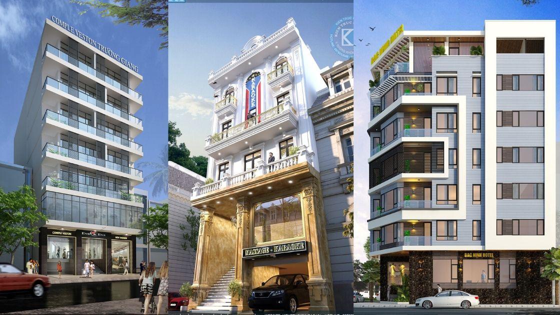 nhà phố 5 tầng đẹp - Thiết kế khách sạn, nhà hàng office building