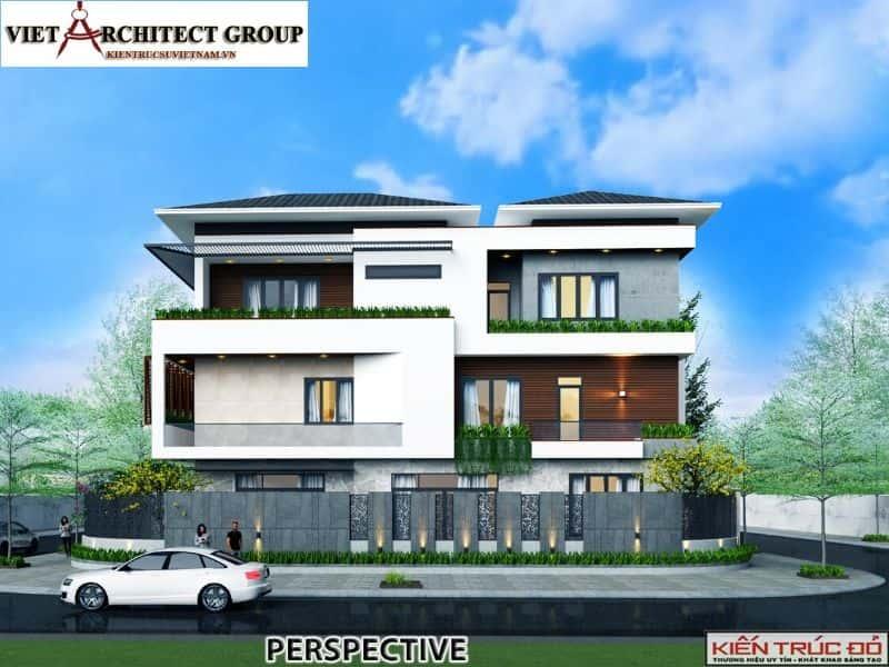 1 12 - Công trình thiết kế biệt thự hiện đại Đà Nẵng với diện tích 250m2