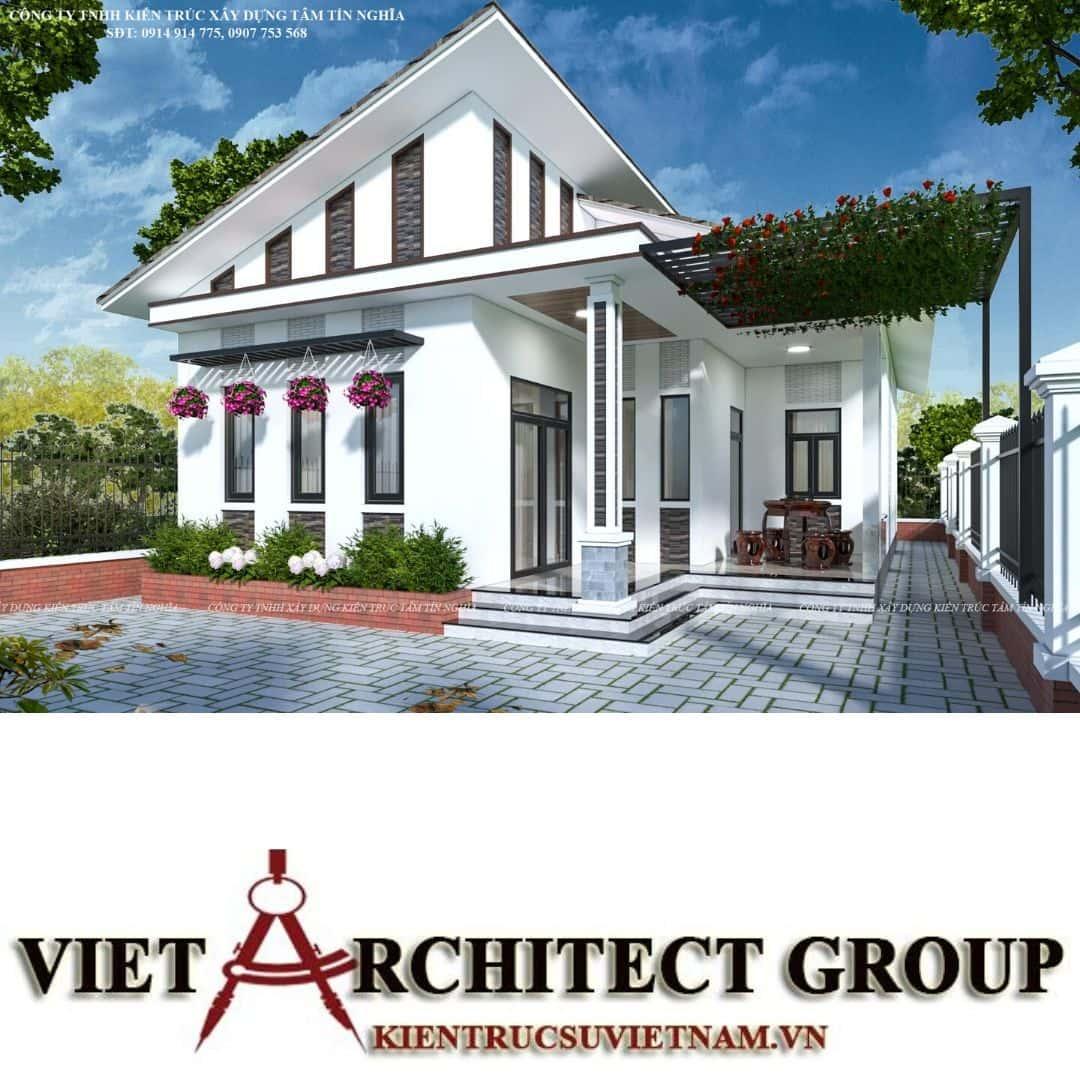 1 7 - Công trình nhà 1 tầng sân vườn chị Hạnh, Vị Thanh, Hậu Giang