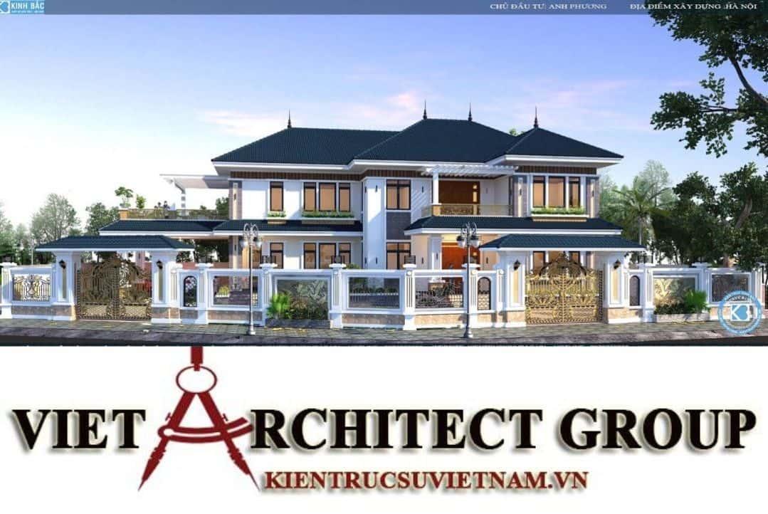 1 - Công trình biệt thự 2 tầng mái thái sang trọng đẳng cấp của gia đình anh Phương - Hà Nội