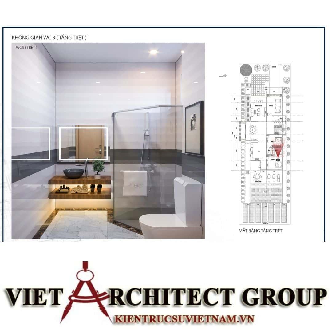 11 7 - Công trình biệt thự 1 trệt 1 lầu diện tích 15x40 chị Oanh, Vũng Tàu