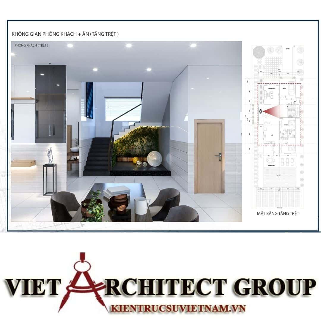 15 - Công trình biệt thự 1 trệt 1 lầu diện tích 15x40 chị Oanh, Vũng Tàu