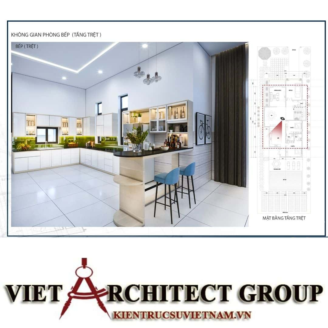 16 - Công trình biệt thự 1 trệt 1 lầu diện tích 15x40 chị Oanh, Vũng Tàu