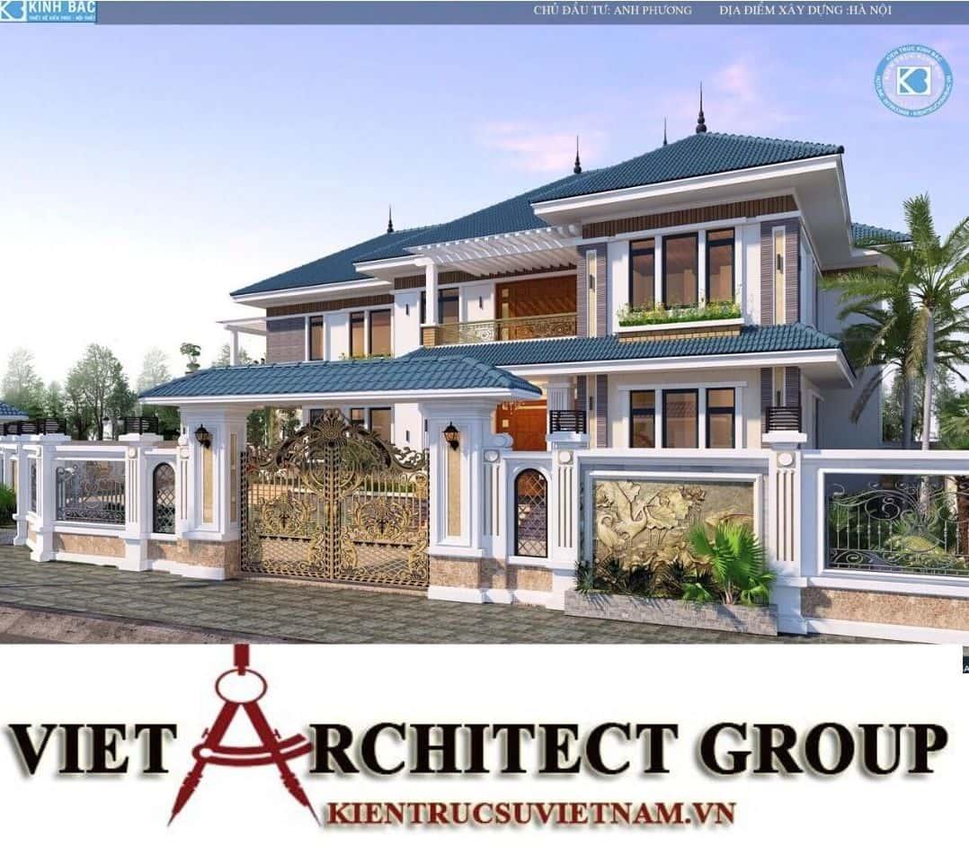 3 - Công trình biệt thự 2 tầng mái thái sang trọng đẳng cấp của gia đình anh Phương - Hà Nội