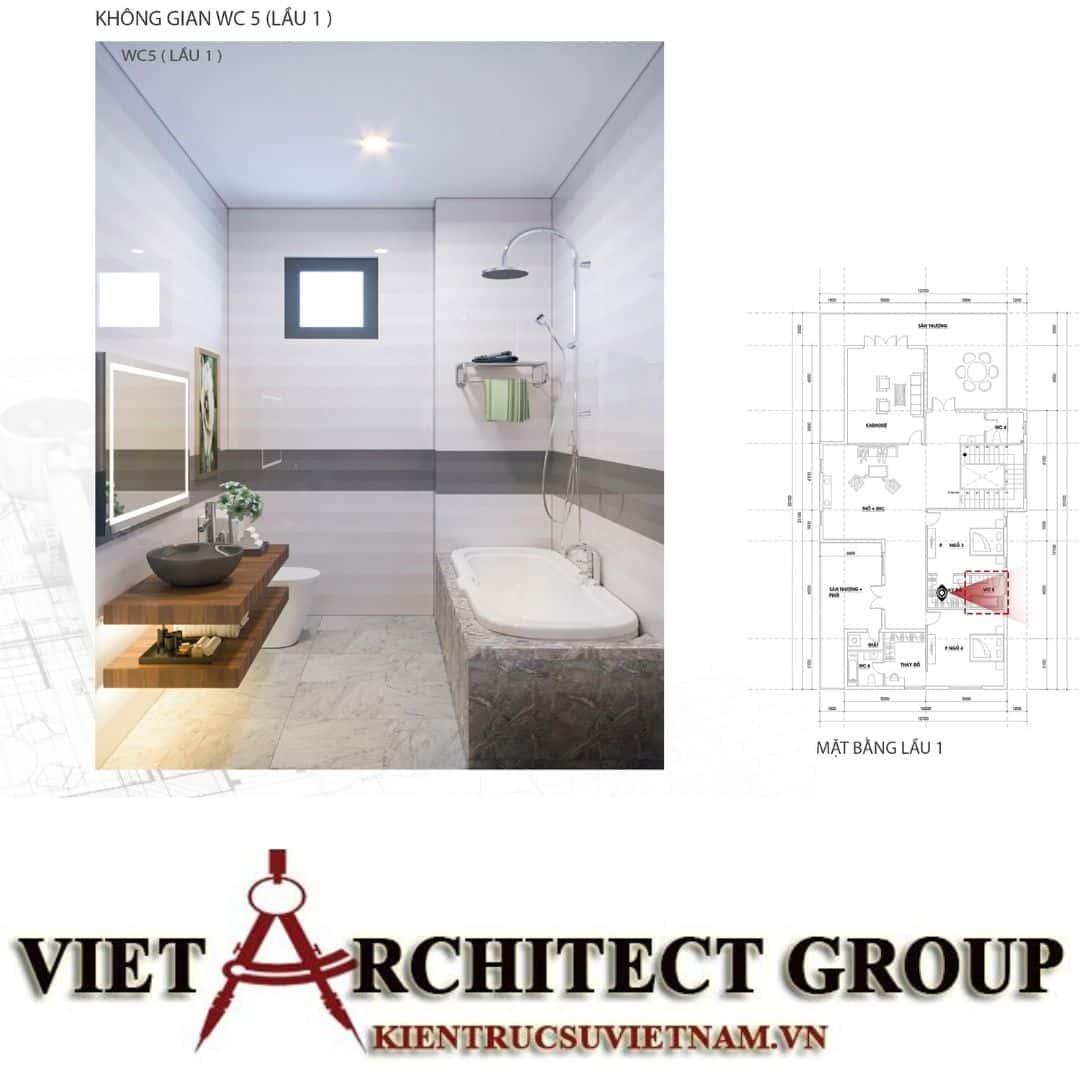 4 10 - Công trình biệt thự 1 trệt 1 lầu diện tích 15x40 chị Oanh, Vũng Tàu